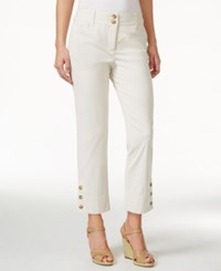 Charter Club Seersucker 3 Button Capri Pants Only At Macy's