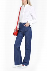 Paul And Joe Flare Embroidered Jeans Blue
