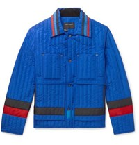 Craig Green Striped Quilted Shell Jacket Blue