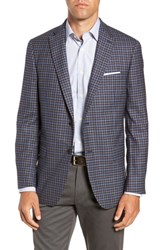 Hart Schaffner Marx Classic Fit Check Wool Sport Coat Blue