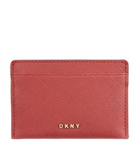 Dkny Bryant Park Saffiano Card Holder Female Red