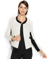 Alfani Quilted Jacquard Open Front Blazer