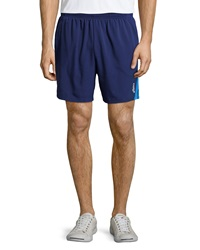 Asics 2 N 1 Contrast Stripe Shorts True Navy New Blue