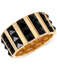 Inc International Concepts M. Haskell For Gold Tone Faceted Jet Stone Rectangle Stretch Bracelet Only At Macy's