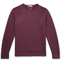 Alex Mill Loopback Cotton Jersey Sweatshirt Burgundy