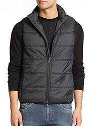 English Laundry Quilted Microfiber Vest Black