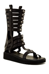 Sixtyseven Alexandra Leather Gladiator Sandal Black