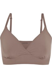 Yummie Tummie By Heather Thomson Claudette Stretch Jersey Soft Cup Bra Taupe