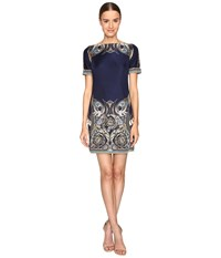 Versace Jersey Dress Blue Stampa