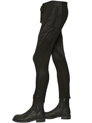 Ann Demeulemeester Boiled Wool And Canvas Pants