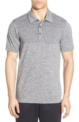 The North Face Men's 'Engine' Active Fit Flashdry Polo Mid Grey Heather