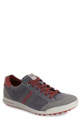 Men's Ecco 'Street' Golf Shoe Ombre Port Brick Leather