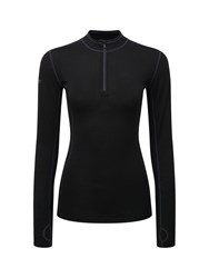 Tog 24 Ultra Womens Tcz Merino Zip Neck Black