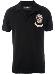 Hydrogen 'Mexican Skull' Polo Shirt Black