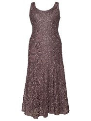 Chesca Lace Cornelli Embroidered Dress Mocha