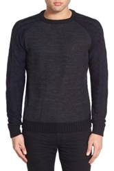 Native Youth Crewneck Knit Sweater Black