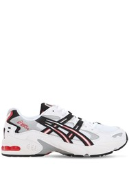 Asics Kayano 5 Og Leather And Mesh Sneakers White