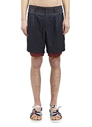 Kolor High Tech Tailored Shorts Black