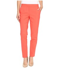 Vince Camuto Front Zip Ankle Pants Coral Passion Women's Casual Pants Red