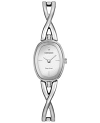Citizen Women's Eco Drive Stainless Steel Bangle Bracelet Watch 24X18mm Ex1410 53A No Color