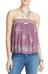 Women's Free People 'You Got It Bad' Strapless Top Pink