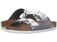 Birkenstock Arizona Soft Footbed Silver Metallic Women's Dress Sandals