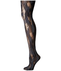 Wolford Camouflage Tights Black Silver Hose