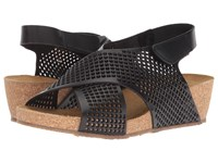 Eric Michael August Wedge Sandal Black Shoes