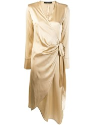 Federica Tosi Wrap Dress Gold