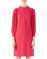 Gucci Viscose Jersey Dress Fuchsia Pink