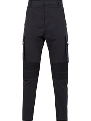 Balmain Biker Trousers Blue