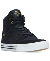 Supra Men's Vaider Casual Skate High Top Sneakers From Finish Line Midnight Midnight White