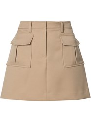 Theory A Line Pocket Skirt Nude Neutrals