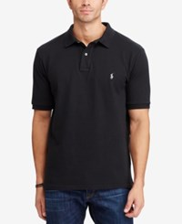 Polo Ralph Lauren Men's Big And Tall Classic Fit Cotton Mesh Polo Black