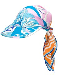 Emilio Pucci Tie Detail Patterned Baseball Cap 60