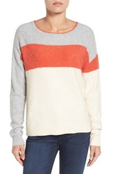 Caslonr Women's Caslon Back Button Stripe Sweater