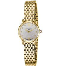 Frederique Constant Fc200whds5b Slimline Mini Yellow Gold Plated Stainless Steel And Diamond Watch