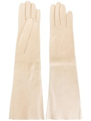 Hermes Vintage Long Gloves Nude And Neutrals