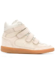 Isabel Marant Bilsy High Top Sneakers Nude And Neutrals