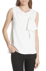 Ted Baker London Kelliss Sculpted Bow Sleeveless Top Ivory
