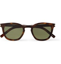 Saint Laurent D Frame Tortoiseshell Acetate Sunglasses Brown