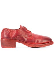 Guidi Classic Derby Shoes Red
