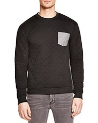 Sovereign Code Sovereign Grid Quilted Sweatshirt Black