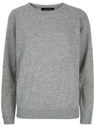 Jaeger Wool And Cashmere Jumper Grey Melange