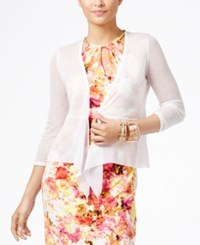Thalia Sodi Pointelle Knit Tie Front Cardigan Only At Macy's
