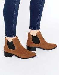 Pull And Bear Pullandbear Suedette Chelsea Boot Brown