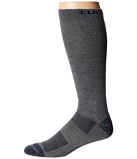 Lucchese Multi Blend Socks Grey Crew Cut Socks Shoes Gray