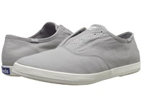 Keds Champion Chillax Washed Twill Drizzle Grey Men's Slip On Shoes Gray