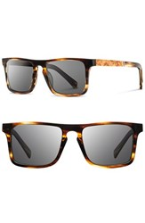 Shwood Men's 'Govy' 52Mm Wood Sunglasses Tortoise Maple Burl Grey Tortoise Maple Burl Grey