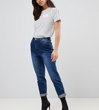 Missguided Petite Riot High Rise Mom Jeans Blue